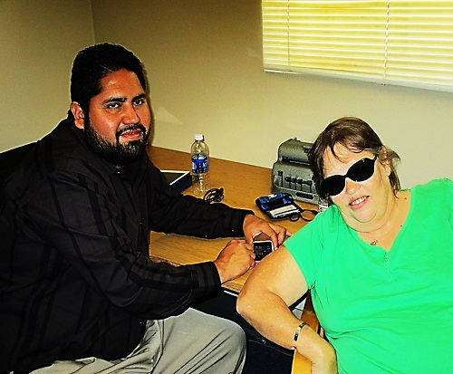 Teresa and her Assistive Technology instructor