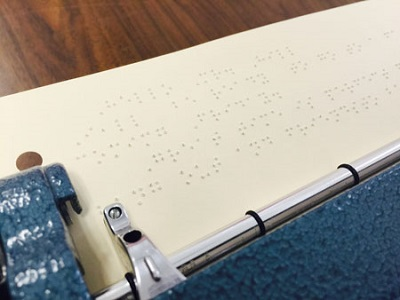 Perkins Braille Writer with Braille