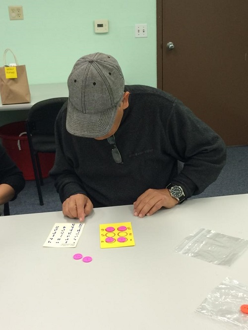 Playing Loteria using Braille