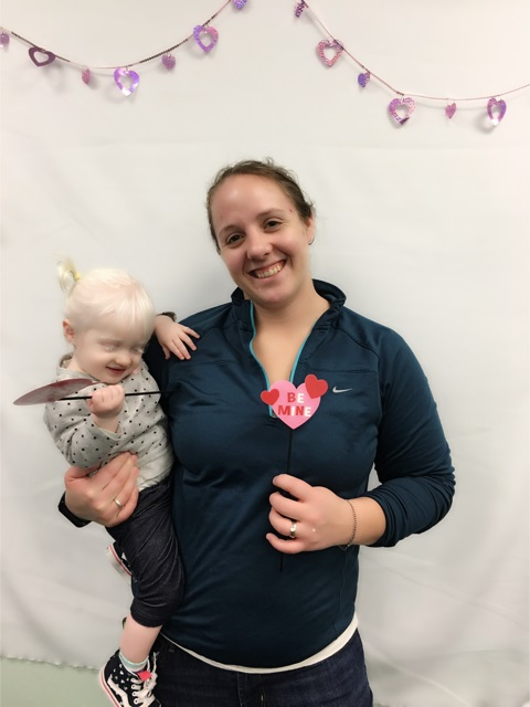 A mother and her baby at Make-it Take-it