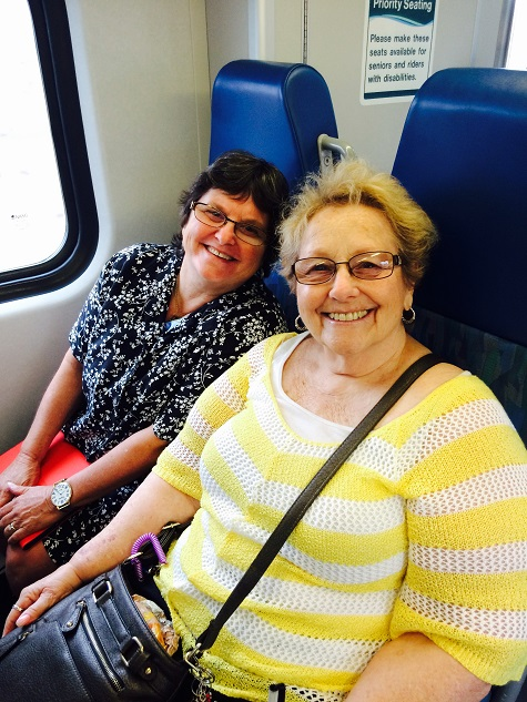 Marilyn and Joan are learning how to take the train at our travel training workshop at BSS