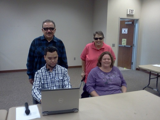 The Disabilty Voting commission with Sal Novella, Feliciano Godoy, Teresa Mealer and Amanda Hill