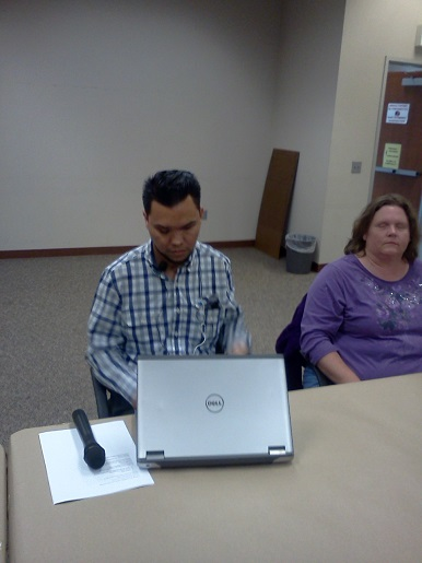 Feliciano Godoy is preparing to present the meeting for the Disability Voting commission